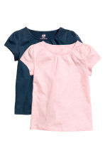 2-pack jersey tops - Dark blue - Kids | H&M CN 2