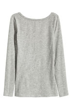 Jersey top - Grey marl - Ladies | H&M CN 2