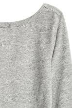 Jersey top - Grey marl - Ladies | H&M 3