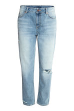 Girlfriend Trashed Jeans - Denimblauw - DAMES | H&M BE 2