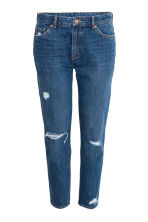 Girlfriend Trashed Jeans - Dark denim blue - Ladies | H&M CN 2