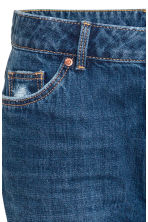 Girlfriend Trashed Jeans - Dark denim blue - Ladies | H&M 4