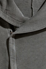 Hooded sweatshirt cardigan  - Dark grey - Men | H&M 3
