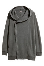 Hooded sweatshirt cardigan  - Dark grey - Men | H&M 2