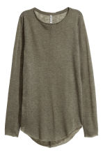 Fine-knit jumper - Khaki green - Ladies | H&M CN 1