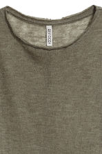 Fine-knit jumper - Khaki green - Ladies | H&M 2