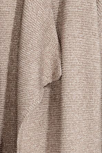 Textured-knit cardigan - Mole/White marl -  | H&M 3