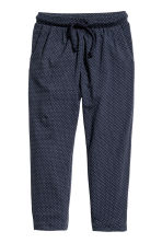Harem pants - Dark blue/Spotted -  | H&M 3