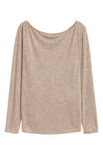 Boat-neck top - Beige marl - Ladies | H&M CN 2