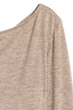 Boat-neck top - Beige marl - Ladies | H&M CN 3