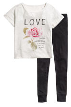 Pyjamas - Grey/Love - Ladies | H&M 2