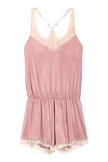 Playsuit with lace trims