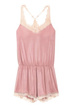 Playsuit with lace trims - Old rose - Ladies | H&M 2