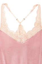 Playsuit with lace trims - Old rose - Ladies | H&M 3