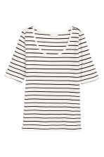 Jersey top - White/Striped - Ladies | H&M 2