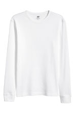 Waffled top - White - Men | H&M 2