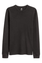 Waffled top - Black - Men | H&M 2