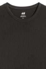 Waffled top - Black - Men | H&M 3