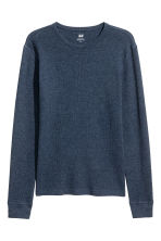 Waffled top - Dark blue marl - Men | H&M CN 2