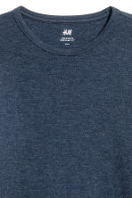 Waffled top - Dark blue marl - Men | H&M CN 3