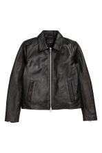 Leather jacket - Black - Men | H&M CN 2