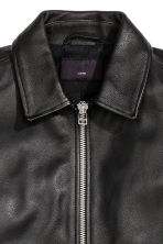 Leather jacket - Black - Men | H&M CN 4