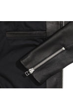 Leather jacket - Black - Men | H&M CN 3