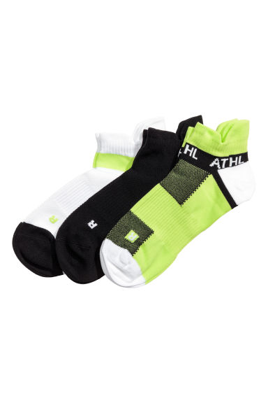 3-pack sports socks - Black/Yellow - Men | H&M CN 1
