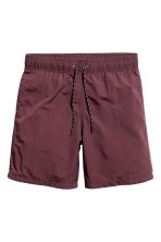 Knee-length swim shorts - Burgundy - Men | H&M 2