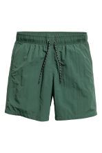 Knee-length swim shorts - Dark green - Men | H&M 2