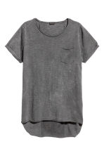 Long T-shirt - Dark grey - Men | H&M 2