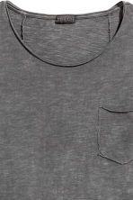 Long T-shirt - Dark grey - Men | H&M 3
