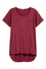 Long T-shirt - Burgundy - Men | H&M 2