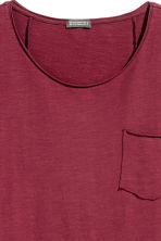 Long T-shirt - Burgundy - Men | H&M 3