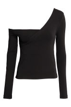 One-shoulder top - Black - Ladies | H&M 2