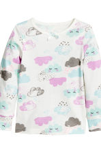 Jersey pyjamas - White/Cloud - Kids | H&M 3