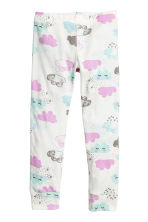 Jersey pyjamas - White/Cloud - Kids | H&M CN 2