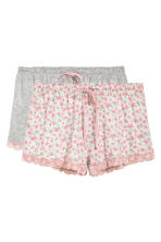 2-pack pyjama shorts - Pink/Small floral - Ladies | H&M CN 2