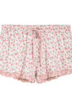2-pack pyjama shorts - Pink/Small floral - Ladies | H&M CN 4