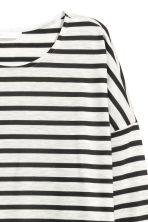 Striped jersey top - Light grey/Striped - Ladies | H&M CN 3