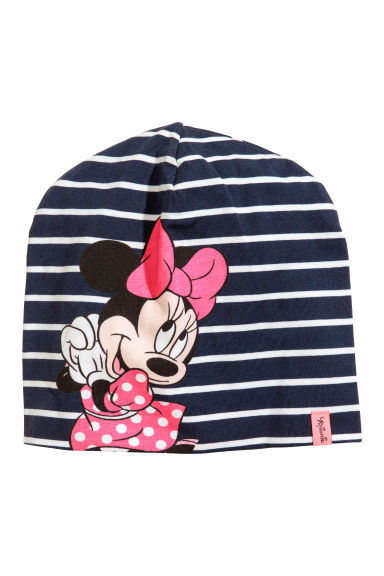 Jersey hat - Dark blue/Minnie Mouse - Kids | H&M CN 1