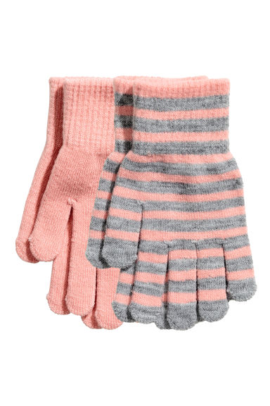 2-pack gloves - Pink - Kids | H&M CN