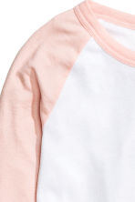 Baseball shirt - Powder pink - Ladies | H&M CN 3