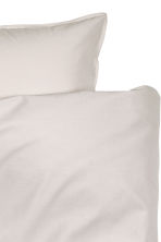 Cotton duvet cover set - Light beige - Home All | H&M CN 3