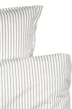 Cotton duvet cover set - White/Grey striped - Home All | H&M CN 3
