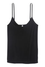 Jersey strappy top - Black - Ladies | H&M 3