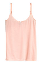 Jersey strappy top - Powder pink - Ladies | H&M CN 2