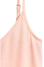 Jersey strappy top - Powder pink -  | H&M CA 4