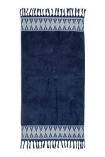 Bath towel with embroidery - Dark blue - Home All | H&M CN 2