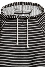 Cropped hooded top - Black/Striped - Ladies | H&M 3